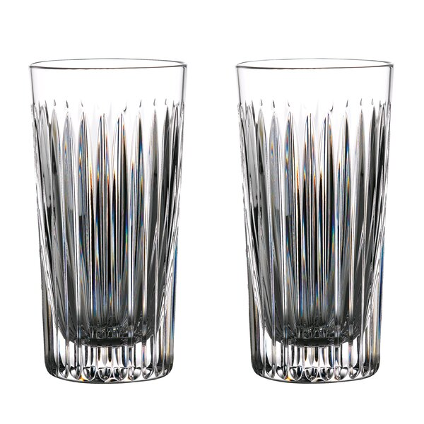Aras 16 Oz. Crystal Highball Glass (Set of 2) by Waterford