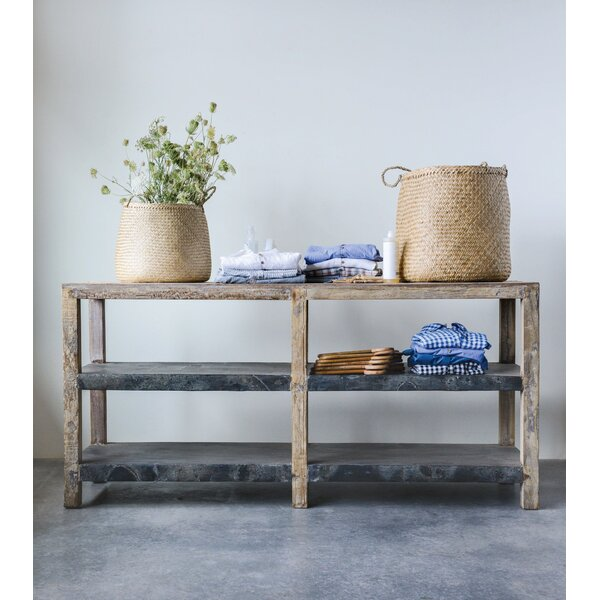 Review Kehl Reclaimed Wood & Metal Clad Console Table