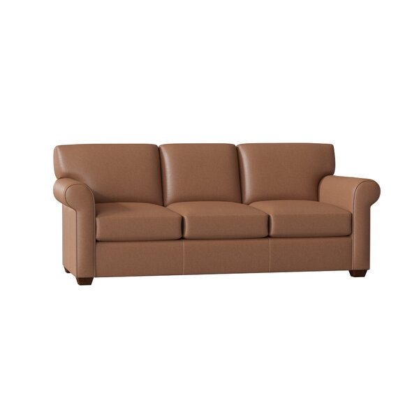 Shop Affordable Rachel Leather Sofa by Wayfair Custom Upholstery by Wayfair Custom Upholstery��