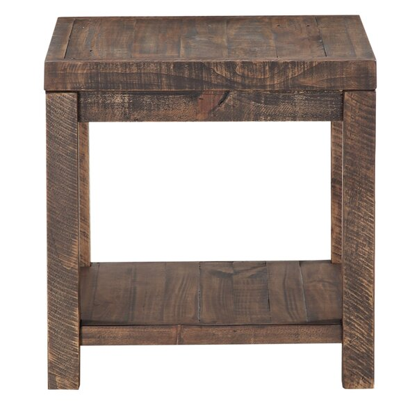 Stamant Reclaimed Wood End Table by Millwood Pines