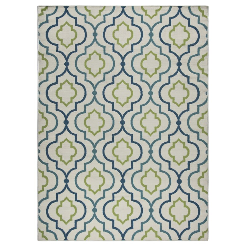 Zipcode Design Lucia Ivory Green Navy Blue Indoor Outdoor