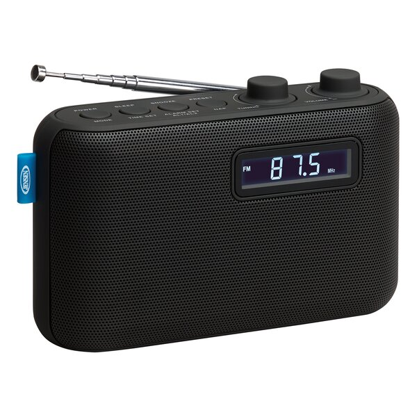 Portable AM/FM Digital Radio with Dual Tabletop Cl