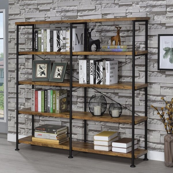 Mccaleb Industrial Etagere Bookcase by Williston Forge
