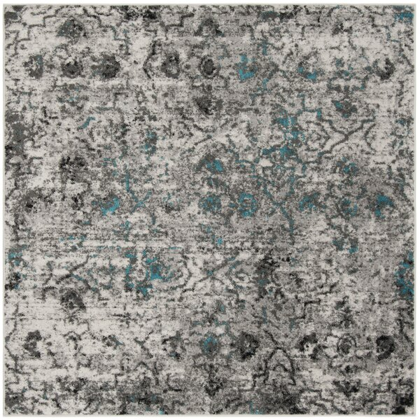 Alisa Gray/Black Area Rug by Bungalow Rose