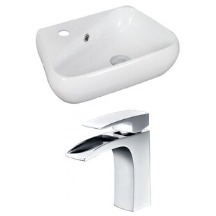 Top Reviews Specialty Ceramic Specialty Vessel Bathroom Sink with Faucet and Overflow By American Imaginations