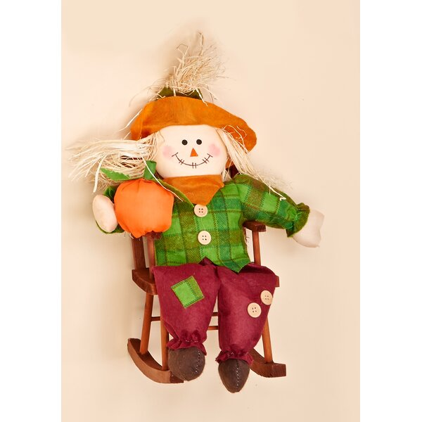 Decorative Boy Scarecrow in Rocking Chair by Worth Imports