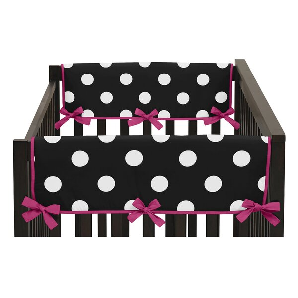 Hot Dot Side Crib Rail Guard Cover (Set of 2) by Sweet Jojo Designs