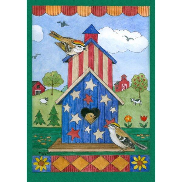 American Birdhouse Garden flag by Toland Home Garden