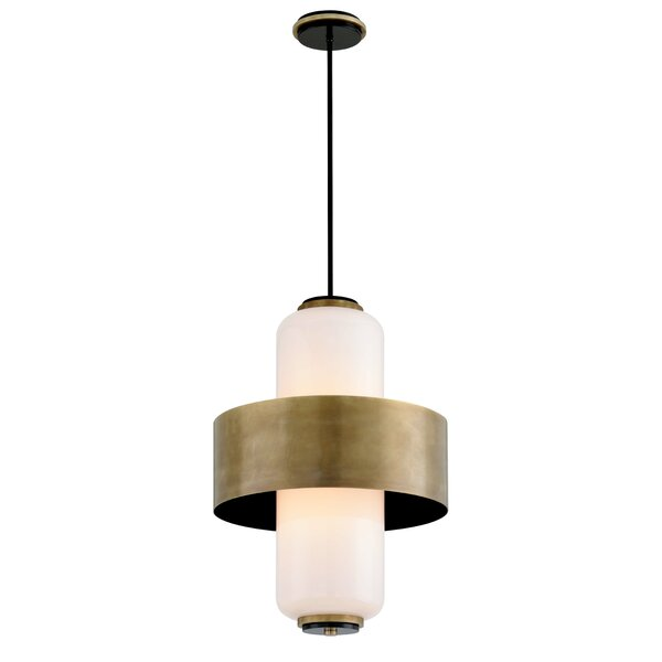 Melrose 6-Light Shaded Geometric Chandelier By Corbett Lighting