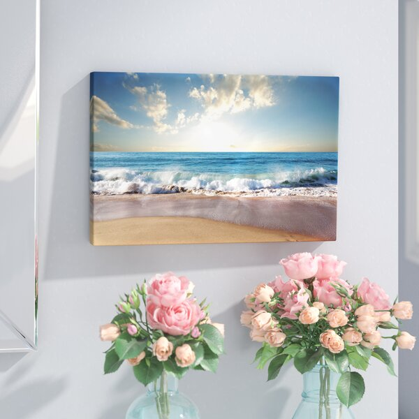 Sea Sunset Seascape Photographic Print On Wrapped Canvas By Highland Dunes.