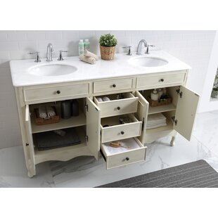 Online Reviews Genevieve 60 Double Bathroom Vanity Set By One Allium Way