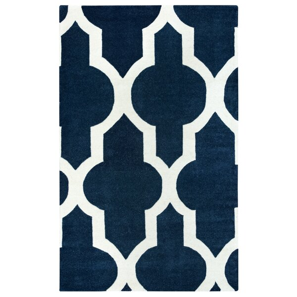 Hand-Tufted Navy Area Rug by The Conestoga Trading Co.
