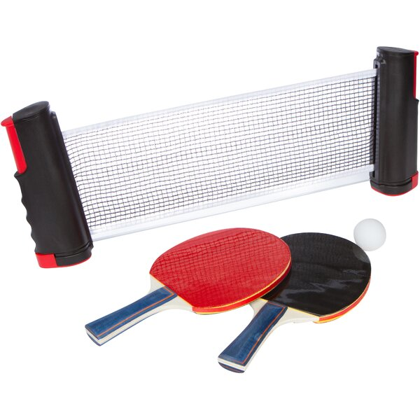 Trademark Innovations Portable Table Tennis Set with 2 Extra Sturdy Paddles and Balls | Wayfair  sc 1 st  Wayfair & Trademark Innovations Portable Table Tennis Set with 2 Extra Sturdy ...