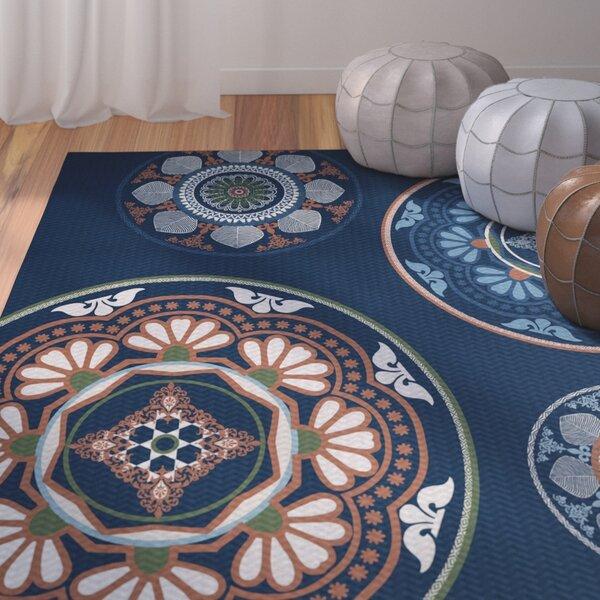 Soluri Blue Indoor/Outdoor Area Rug by Bungalow Rose