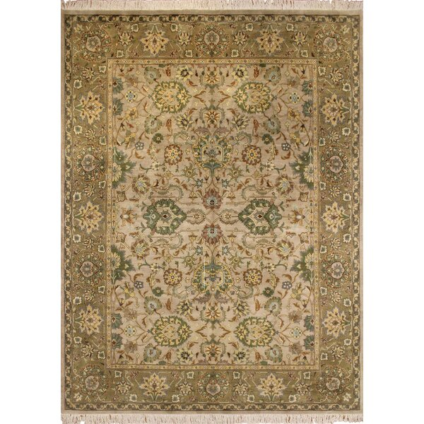 One-of-a-Kind Malone Hand Knotted Wool Beige Area Rug by Darby Home Co