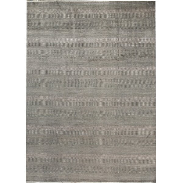 Hand-Knotted Wool Gray/Copper Area Rug