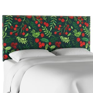 Nail Button Border Upholstered Panel Headboard by The Holiday Aisle