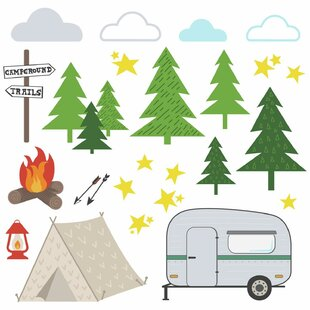 Decal travel wall decals youll love wayfair grays ferry camping peel and stick wall decal gumiabroncs Choice Image