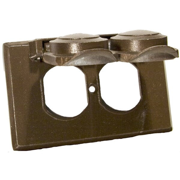 One Gang Weatherproof Covers in Bronze for Horizontal Duplex Receptacle by Morris Products