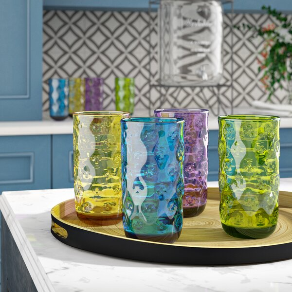 Gravesend Clear 23 oz. Acrylic Every Day Glasses (Set of 8) by Ebern Designs