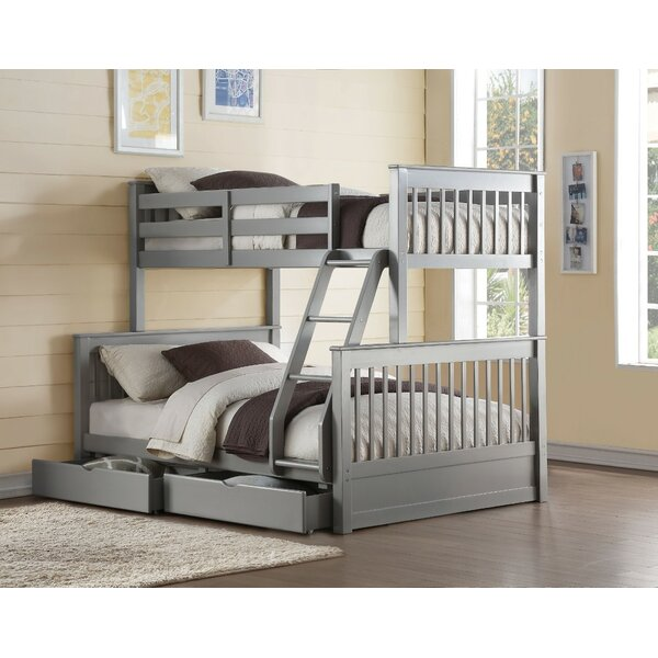Orton Wooden Twin over Full Bunk Bed with 2 Drawers by Harriet Bee
