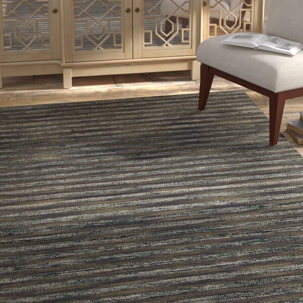 Vanderbilt Grey Area Rug by Bloomsbury Market