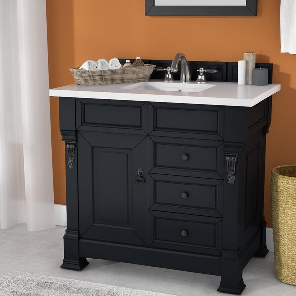 Bedrock 36 Single Antique Black Bathroom Vanity Set with Drawers by Darby Home Co