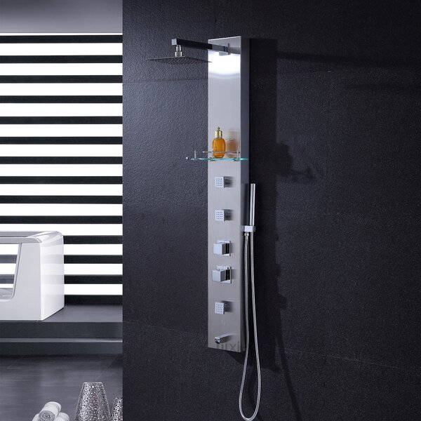 Rain Shower Head Shower Panel by Luxier