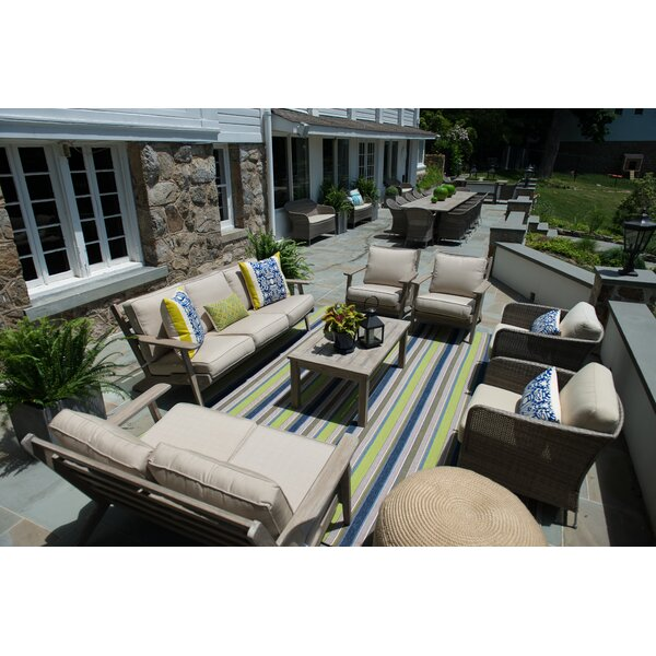 Aryanna Deep Seating Group with Sunbrella Cushions by Gracie Oaks