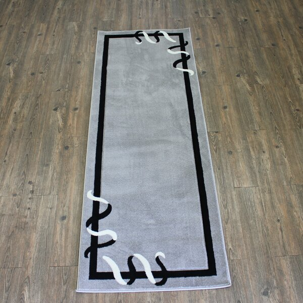 Geo Gray/Black Area Rug by Rug Factory Plus