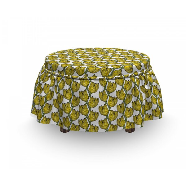 Tulip Ottoman Slipcover (Set Of 2) By East Urban Home
