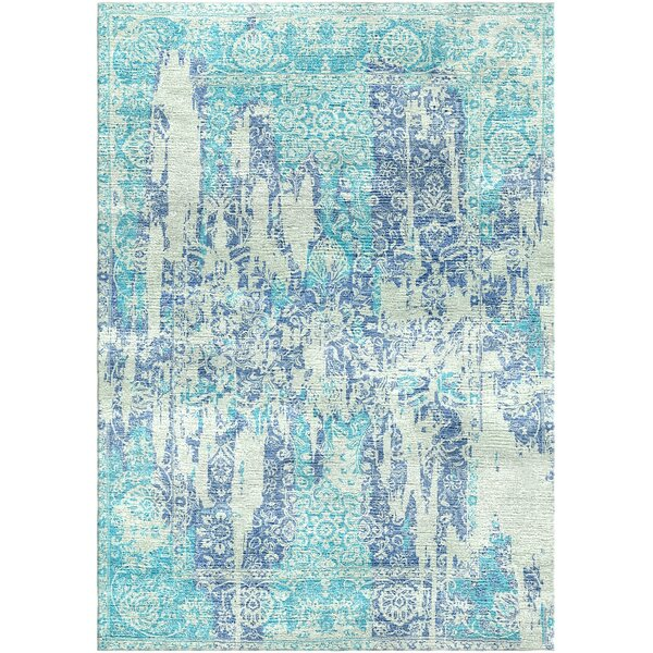 Aliza Handloom Sky Blue Area Rug by Bungalow Rose
