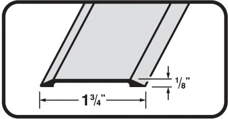 0.13'' x 1.75'' x 36'' Threshold in Satin Nickel by M-d Products