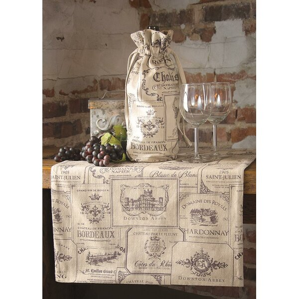 Wine Labels Runner by Heritage Lace