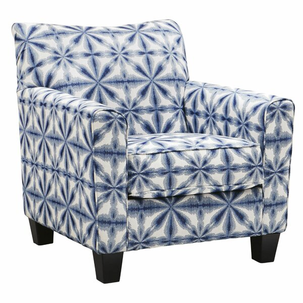 Simona Fabric Wooden Armchair By Bungalow Rose
