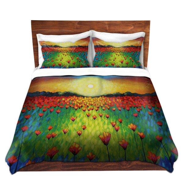 Sunburst Poppies Duvet Cover Set