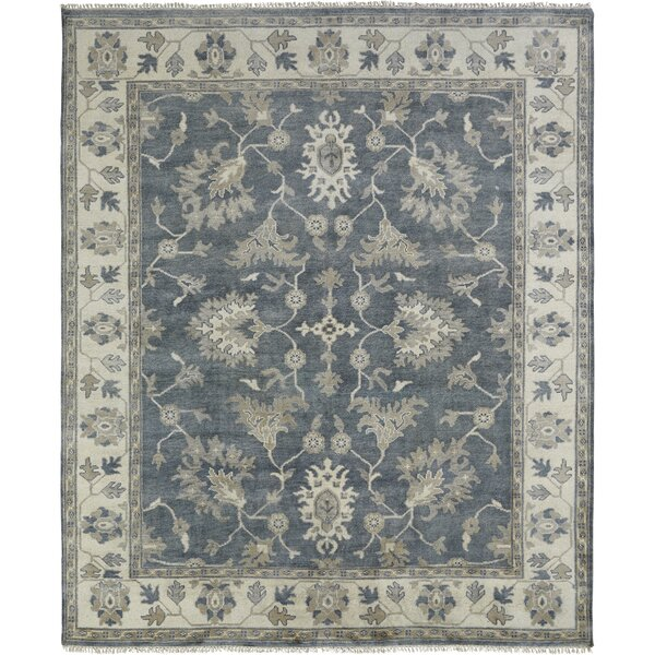 Jayesh Hand Knotted Wool Blue/Ivory Area Rug by Darby Home Co