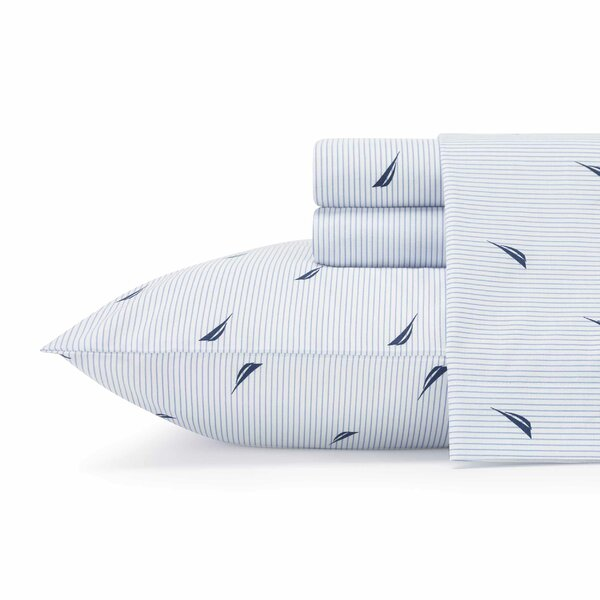 Sailing Stripe 180 Thread Count Sheet Set by Nautica