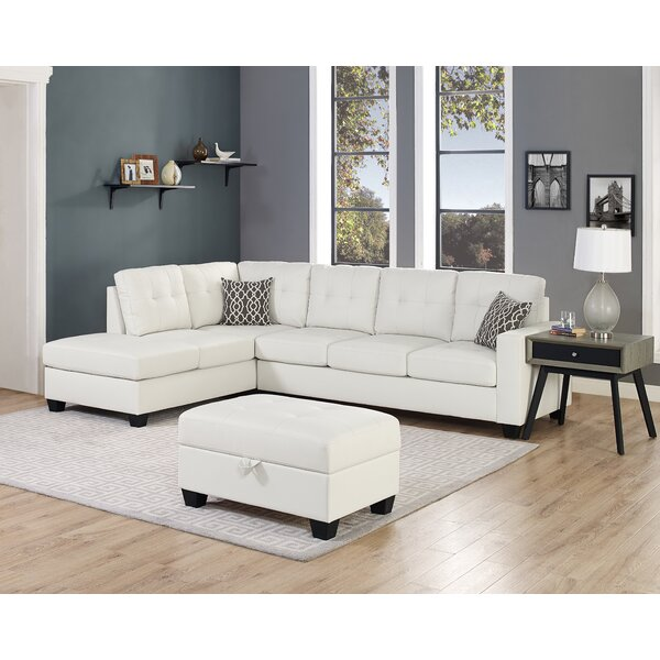 Beauman Reversible Sectional with Ottoman by Ebern Designs