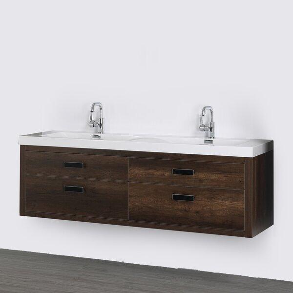 63 Wall Mounted Double Bathroom Vanity Set by Streamline Bath