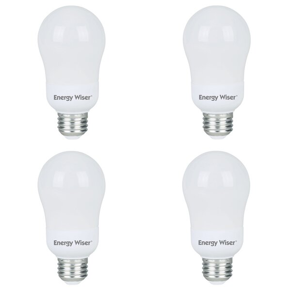 15W E26 CFL Light Bulb (Set of 4) by Bulbrite Industries