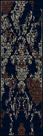Bower Hand-Woven Marine Blue Area Rug by Bungalow Rose