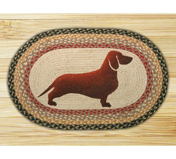 Dachshund Printed Area Rug by Earth Rugs