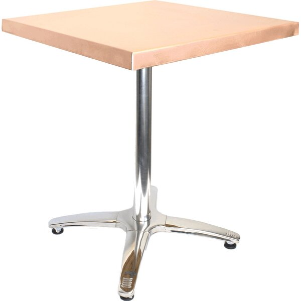 36 in. Square Copper Table by Mio Metals