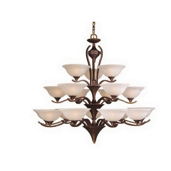 Stribling 18 - Light Shaded Tiered Chandelier By Charlton Home
