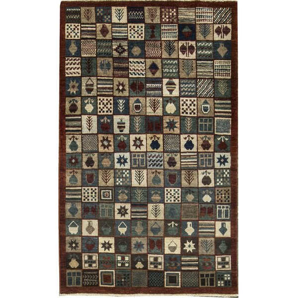 One-of-a-Kind Zarbof Quality Pakistan Edition Hand-Knotted Wool Black Area Rug by Bokara Rug Co., Inc.