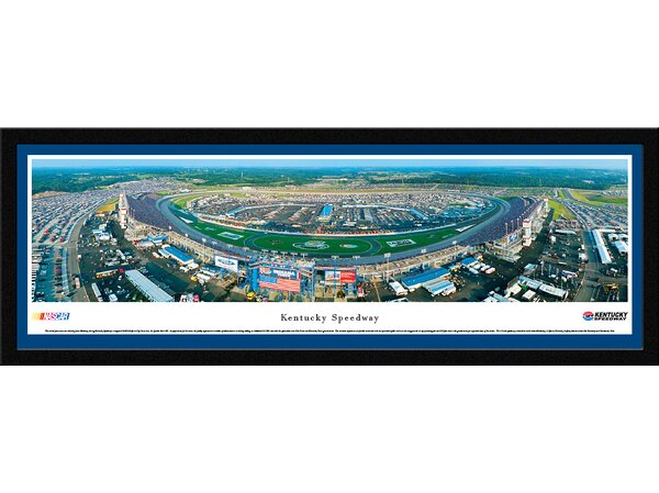 NASCAR Kentucky Speedway by James Blakeway Framed Photographic Print by Blakeway Worldwide Panoramas, Inc