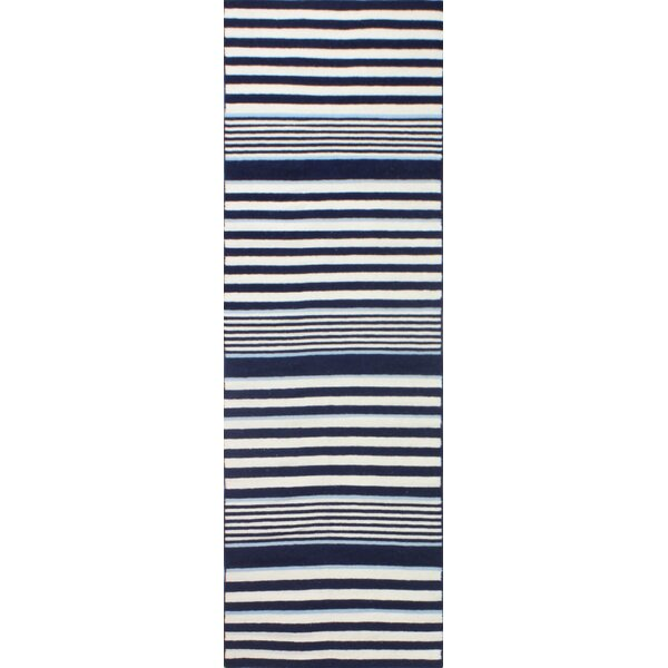 Rockport Ivory & Navy Area Rug by Bashian Rugs