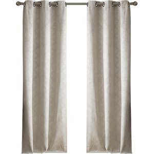 Tyrrell Geometric Blackout Thermal Grommet Curtain Panels (Set of 2)