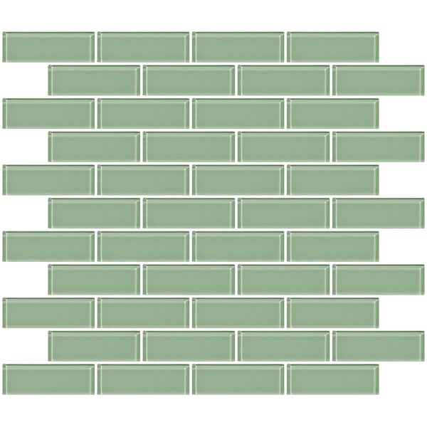 1 x 3 Glass Subway Tile in Light Sage Green by Susan Jablon